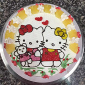 Twin Hello Kitty Taart